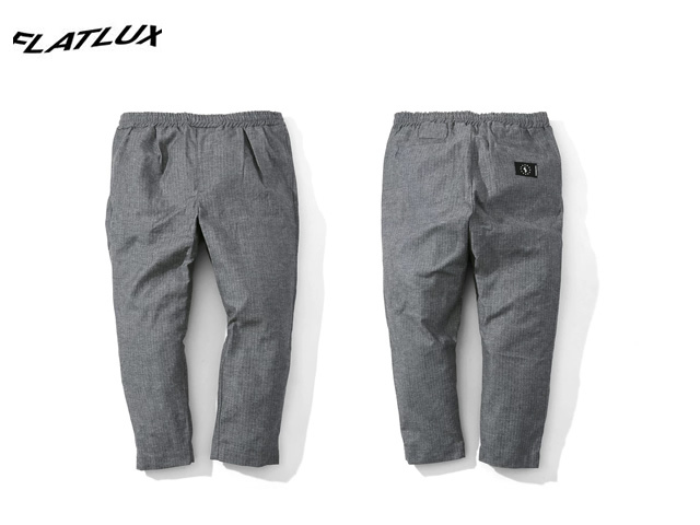 "FLATLUX|Ideal Eazy Pant ""herringbone grey"""