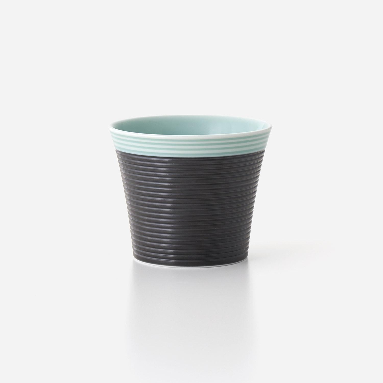 青磁黒彩 ロックカップ