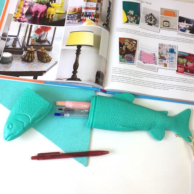 Fish Case!! L  ( Turquoise  )