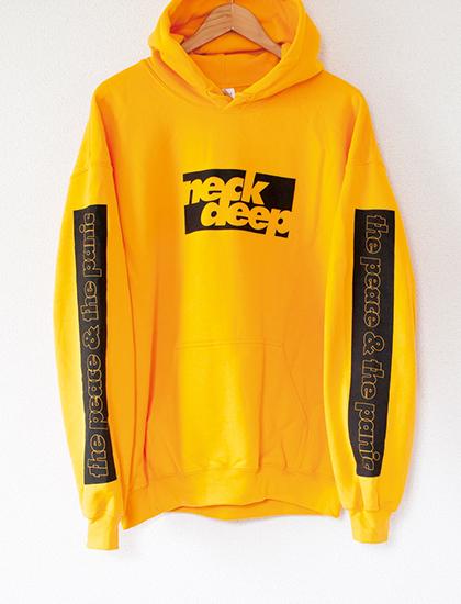 【NECK DEEP】Bars Hoodie (Yellow)