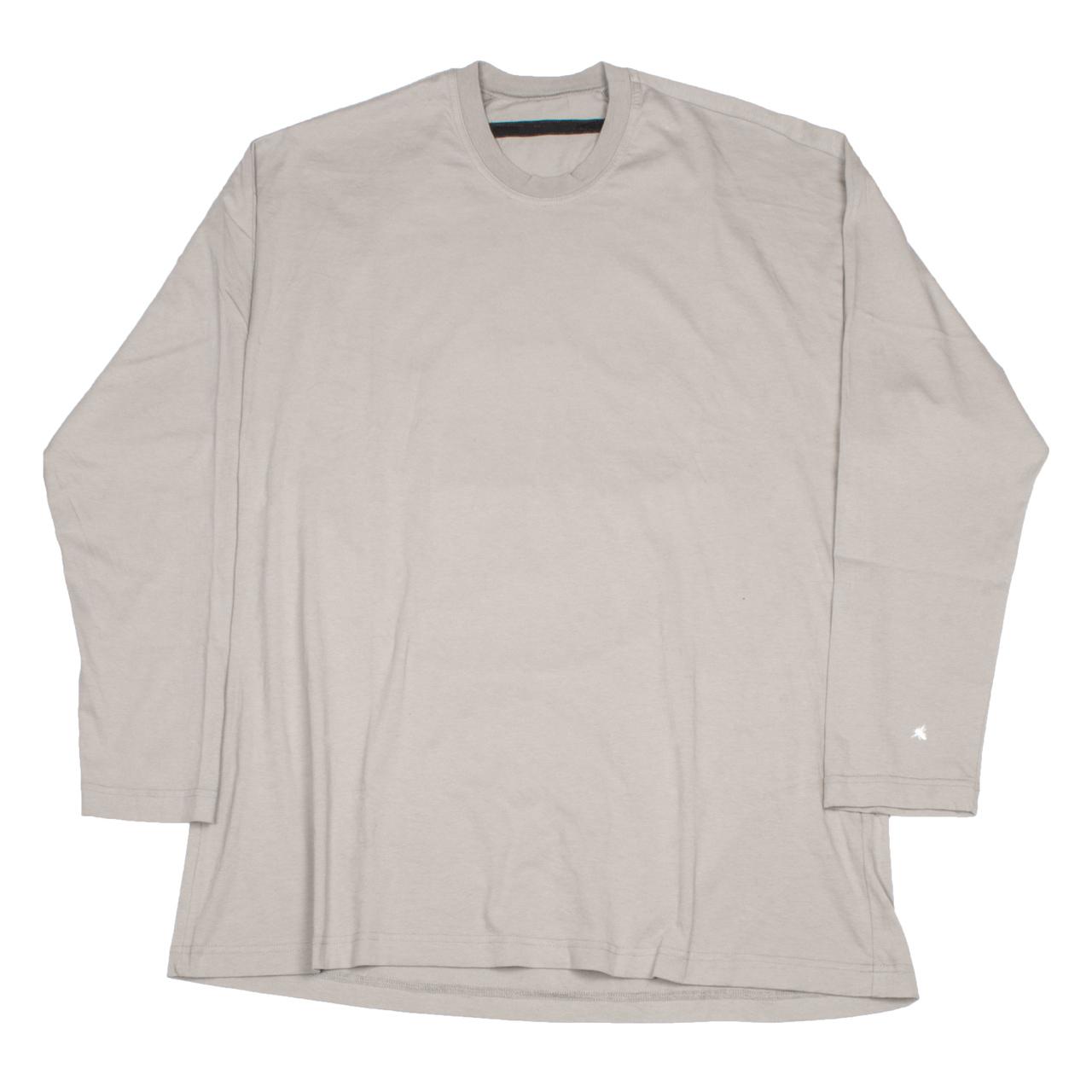 720CPM7-BEIGE / バックプリント ロングスリーブ Tシャツ