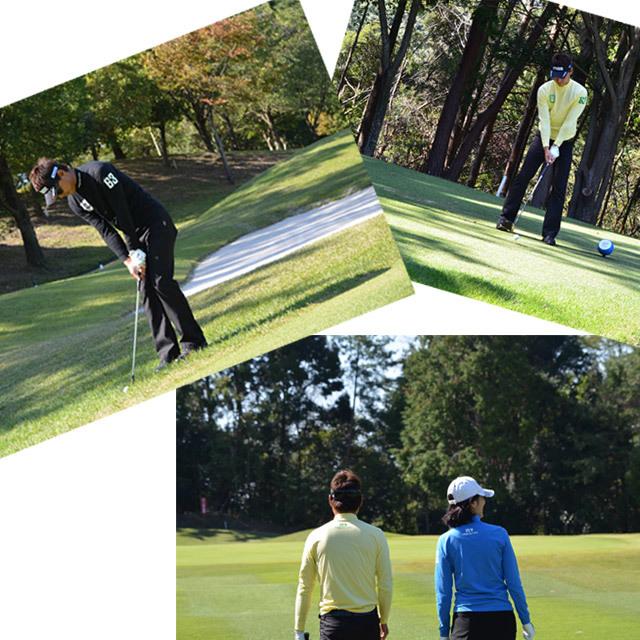 ゴルフプロ監修 プリント長袖シャツ【日本製】ホワイト