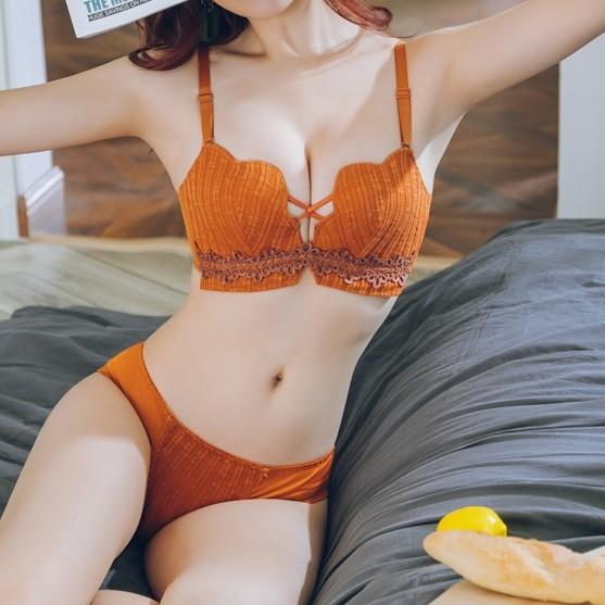 (A-Bカップ【ブラジャー】気質セクシー刺繍透かし彫りブラジャー33566288