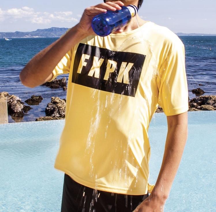 FLASH PACKER  ナノ撥水Tシャツ XNT-FLICK  YELLOW / BLACK / BLUE