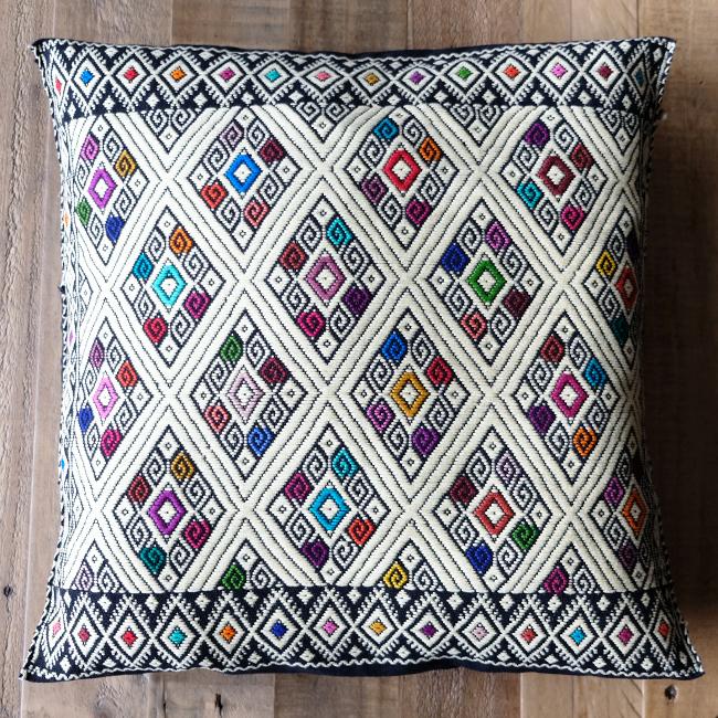 ララインサール村の手織りクッションカバー /215e MEXICO メキシコ