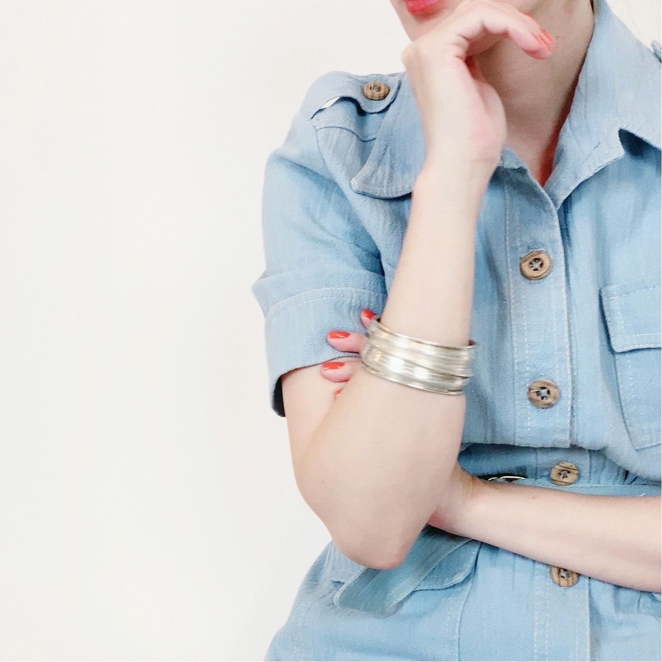 ◼︎80s vintage sterling modernist drape cuff bracelet from Mexico◼︎