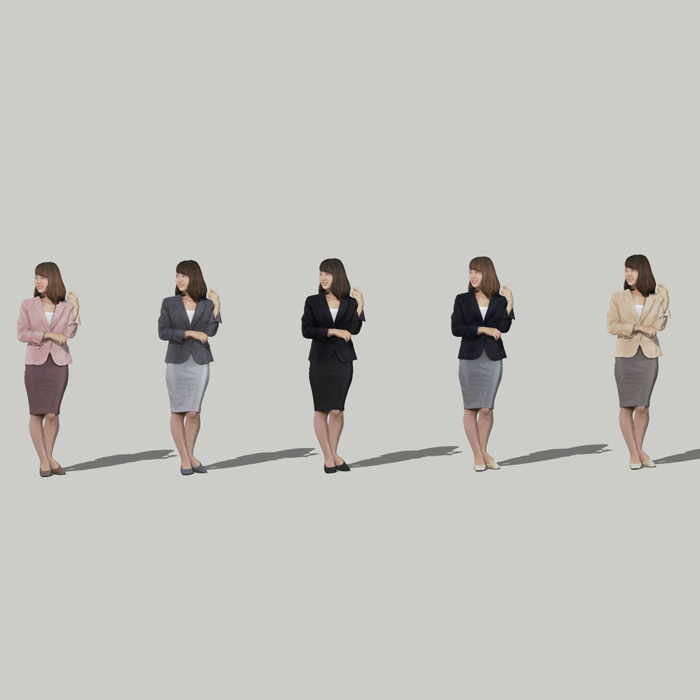 SketchUp素材 3D人物モデル ( Posed ) 013_Kana - 画像2