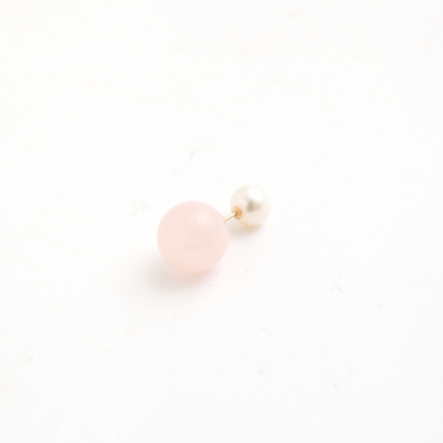 simmon/Candy_Pierce_Milky Pink(片耳)