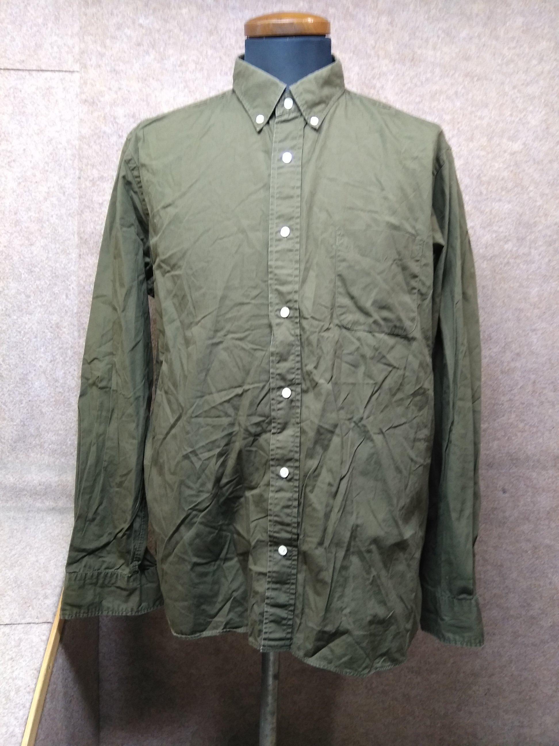 ビームス BEAMS 長袖 シャツ XL オリーブ mu300s