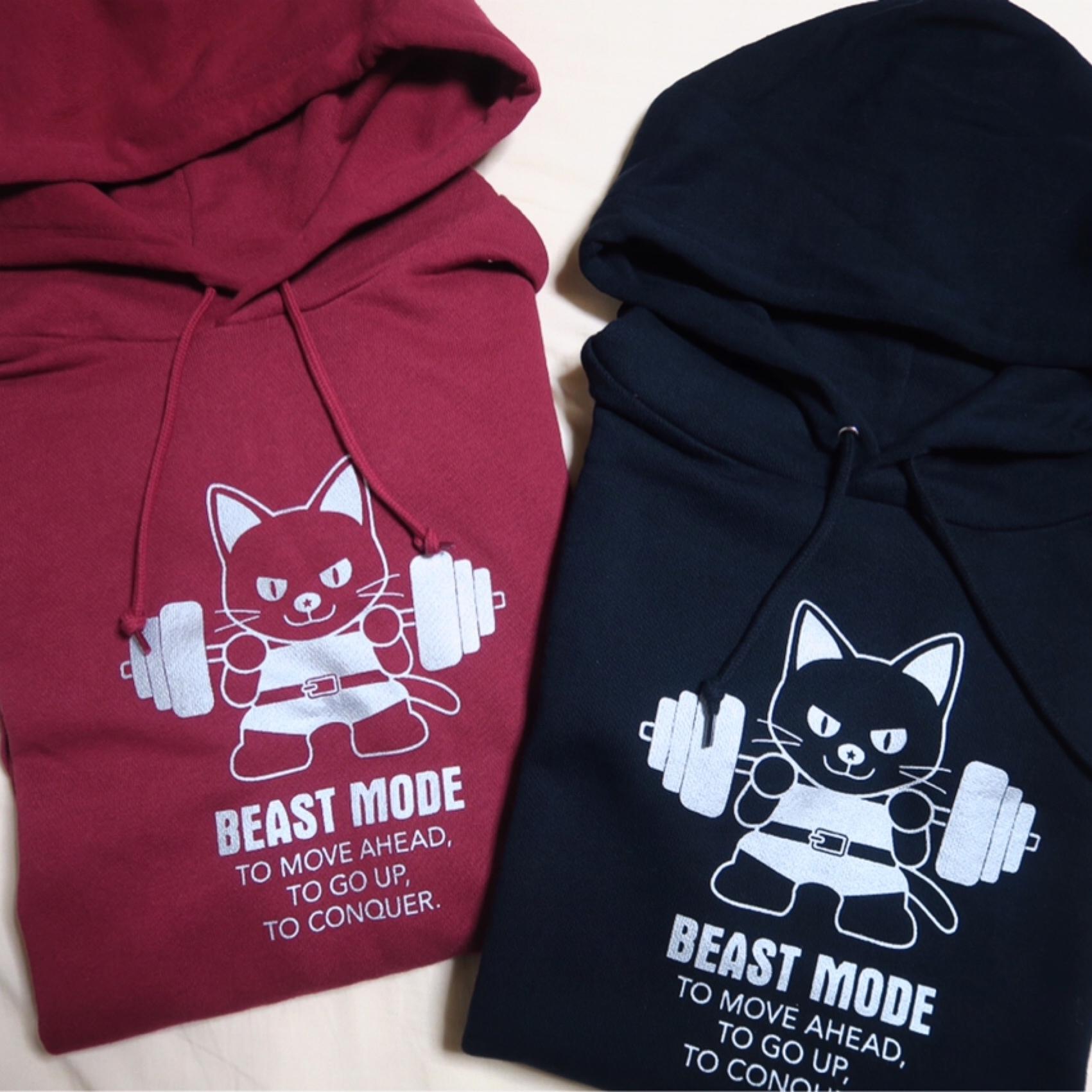 【BEAST MODE】FOODIE ライトパーカー  猫 ロシアンブルー
