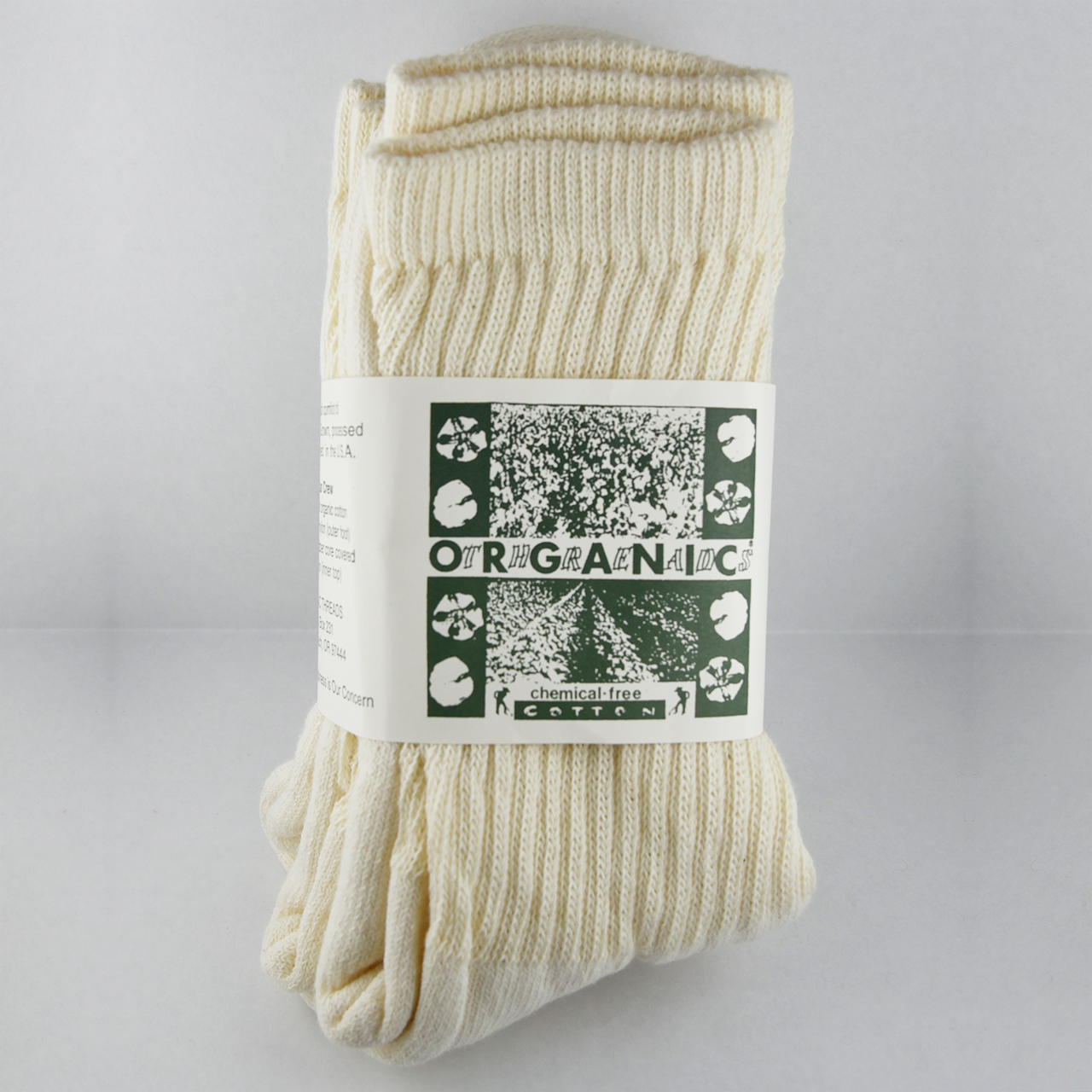 ORGANIC THREADS 3P SOCKS CREAM