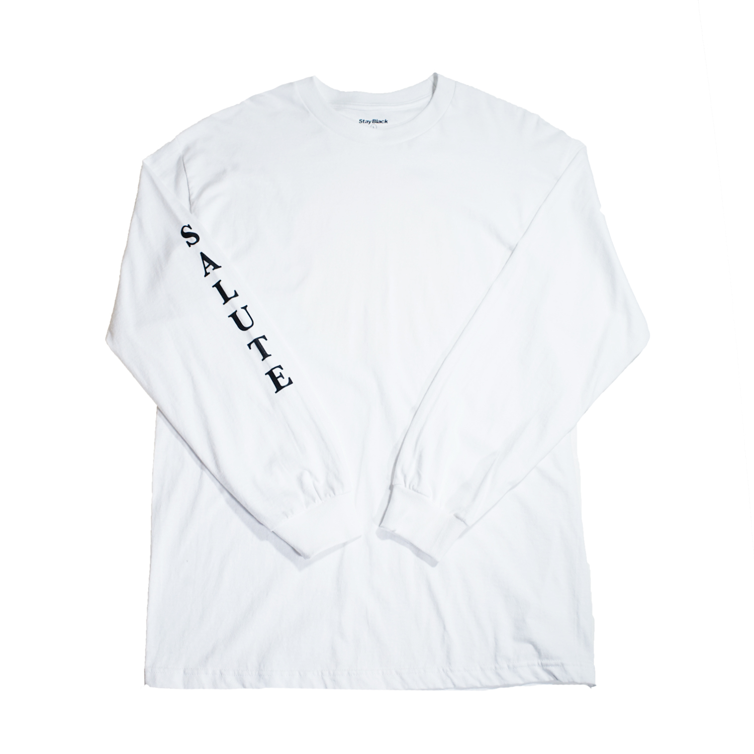Stay Black SALUTE L/S TEE -WHITE