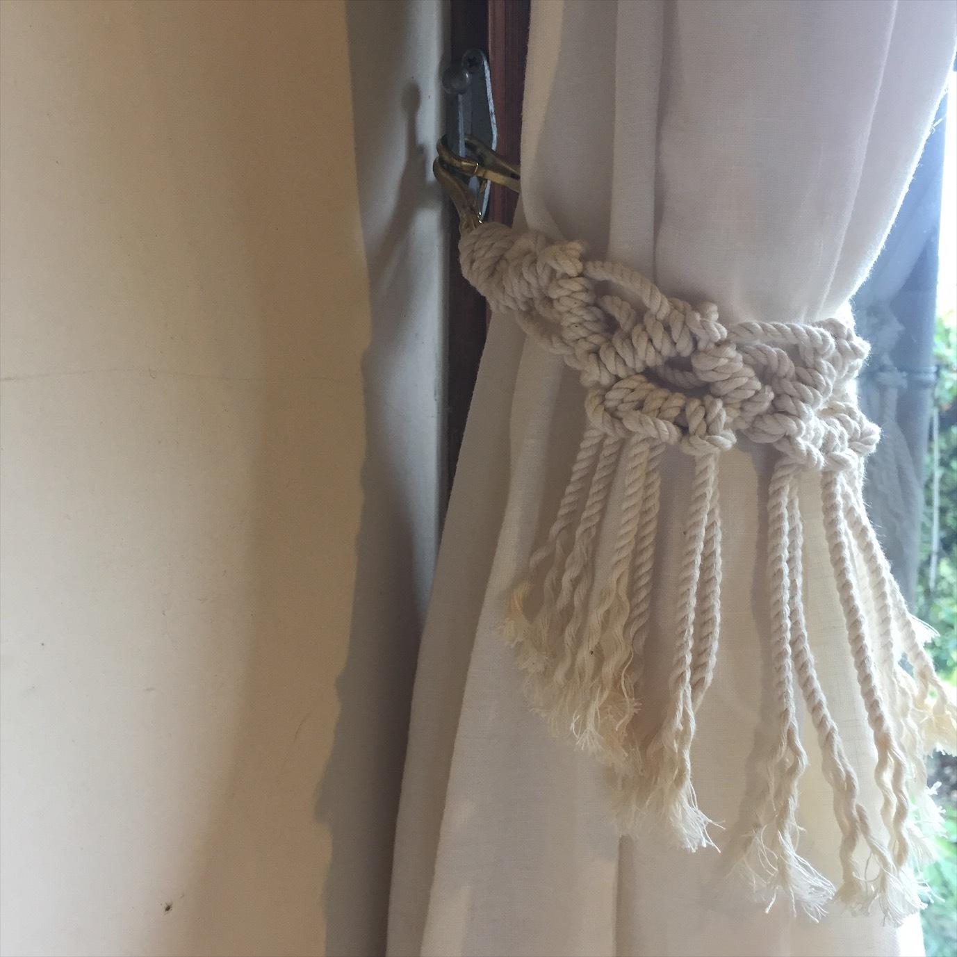 Macrame Curtain Tieback C