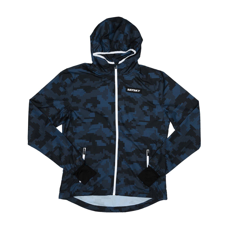 SAYSKY セイスカイ ランニングジャケット Camo Pace Jacket - Pixel Camo ピクセルカモフラージュ EMRJA01 [ユニセックス]