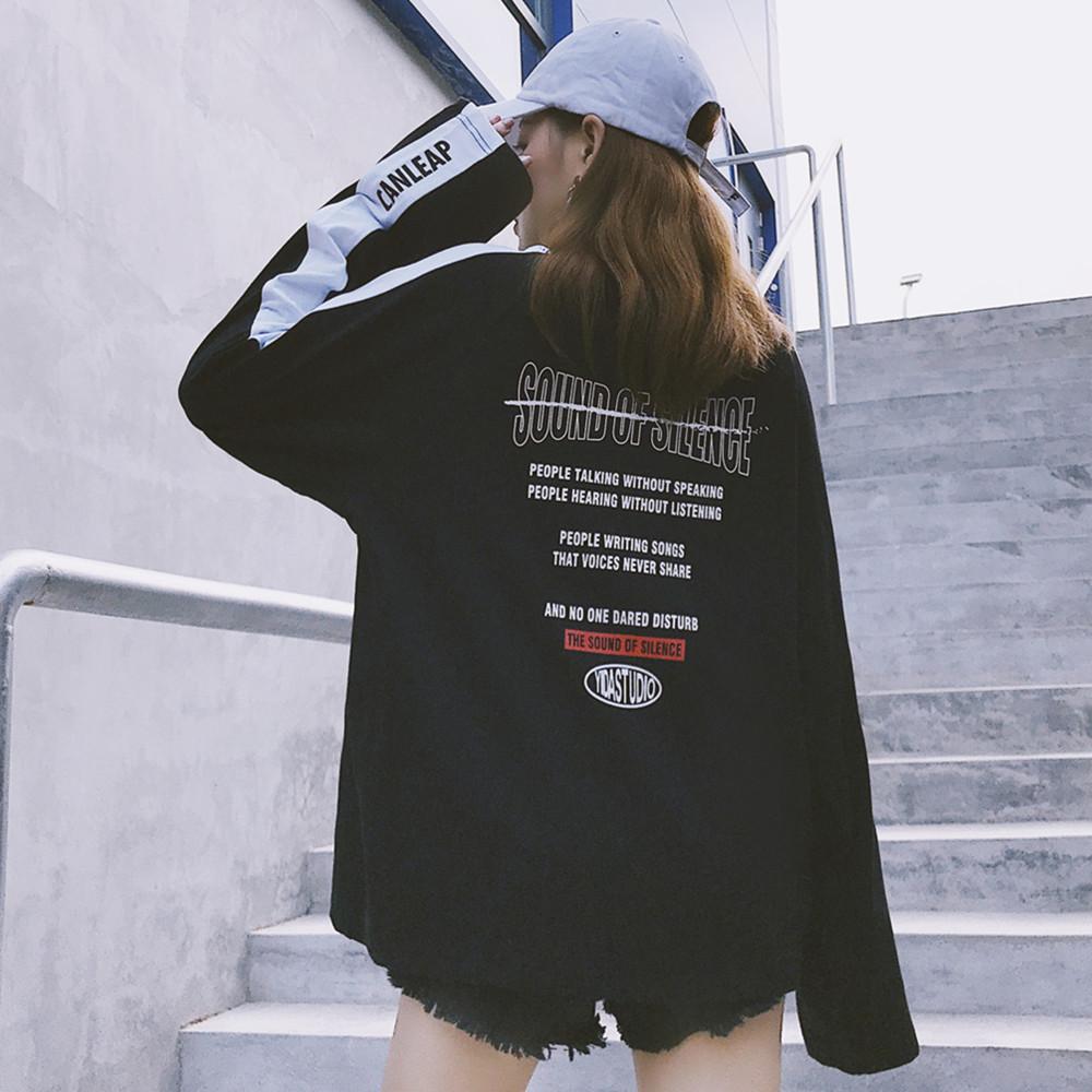 【tops】カジュアルアルファベット長袖のTシャツ15919668