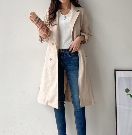 【送料無料】 大人カジュアルスタイルに♡ シンプル ナチュラル テーラード ロングコート アウター スプリングコート