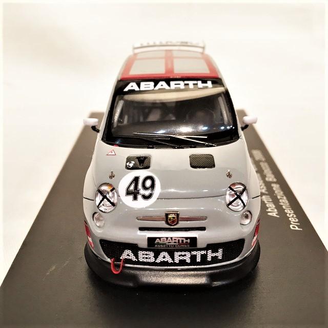 ABARTH ASSETTO CORSA 2008 GREY 1/43【SPARK-MODEL】【税込価格】【送料無料】