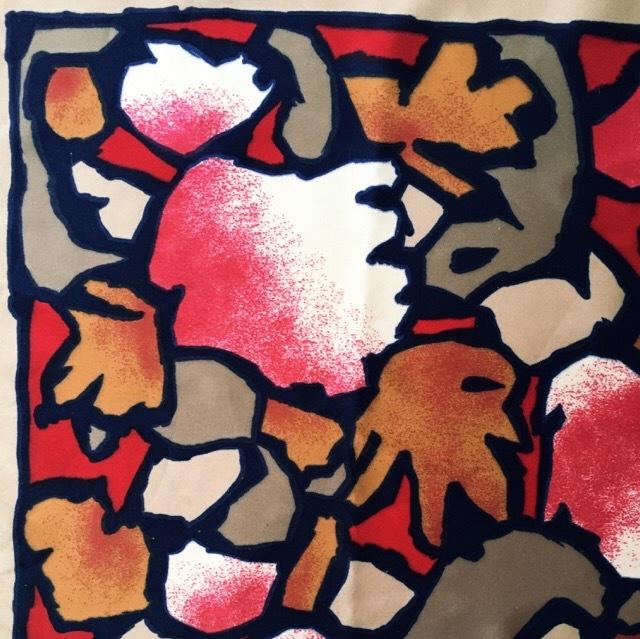 【used】スカーフ2 ブラウン×レッド・オレンジ