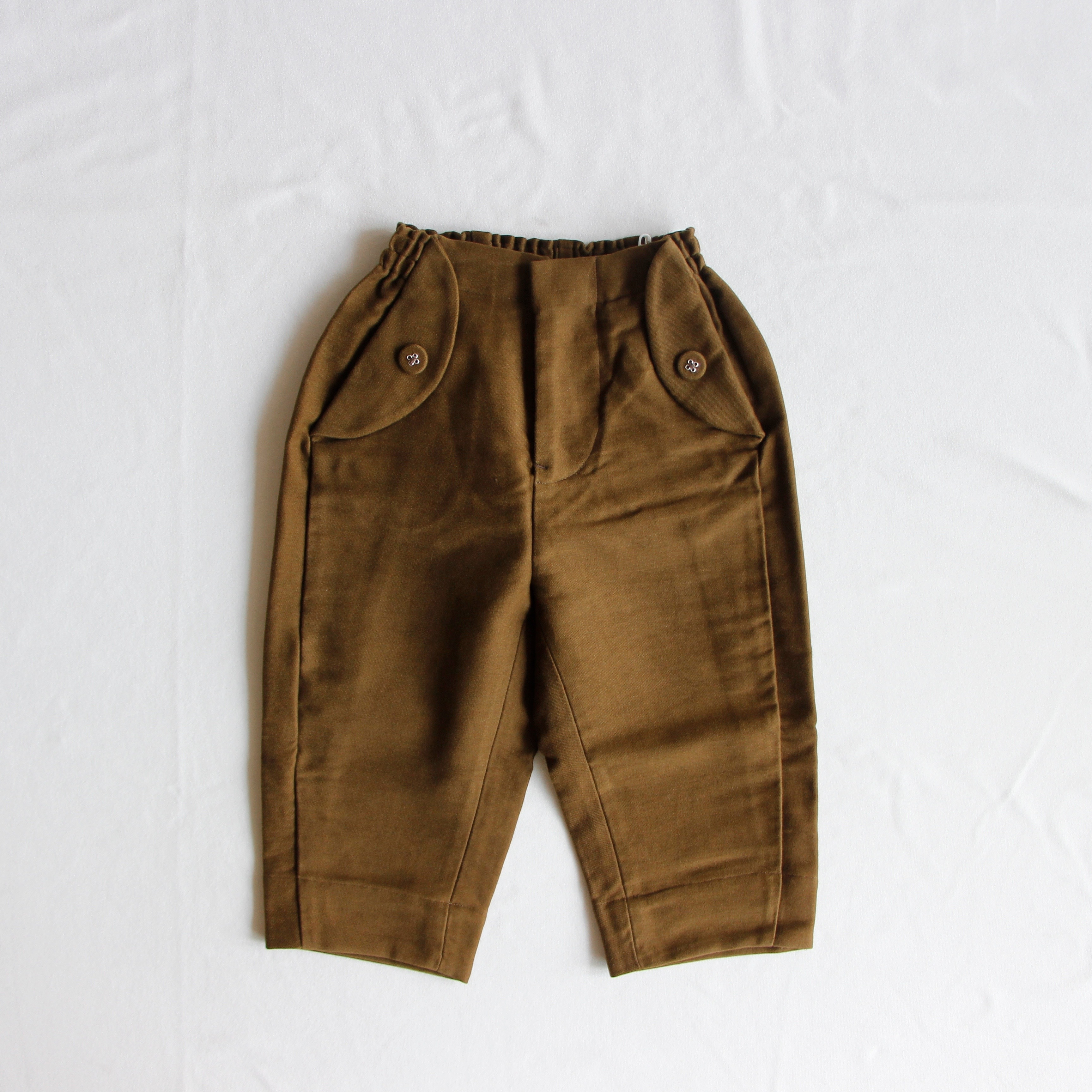 《mina perhonen 2019AW》bonbon パンツ / khaki / 110-140cm