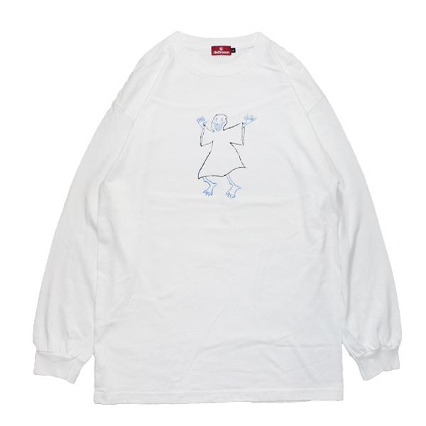 【HELLRAZOR】Hellrazor x Shawn Powers Ghost L/S Shirts(WHITE)
