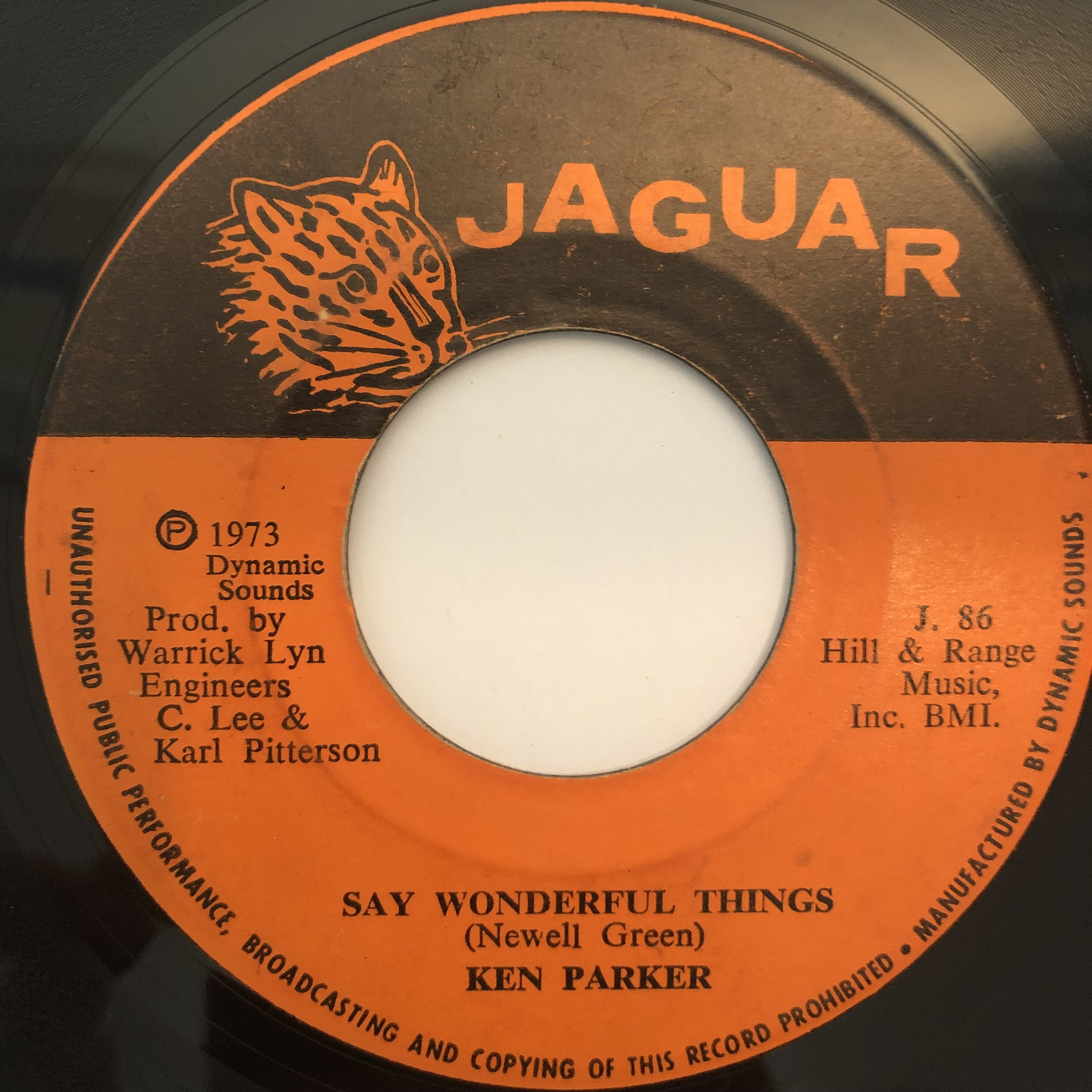 Ken Parker(ケンパーカー) - Say Wonderful Things【7-20249】