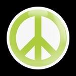 ゴーバッジ(ドーム)(CD0430 -SIGN PEACE GREEN W) - 画像1