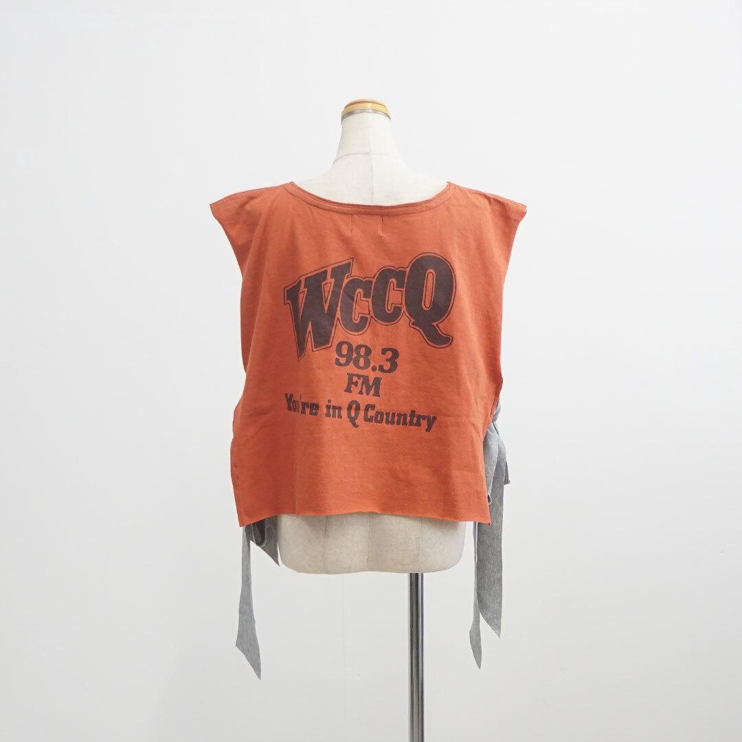 yoused ユーズド Side Ribbon Tee Vest サイドリボンTベスト 【返品交換不可】 (品番y-1002)