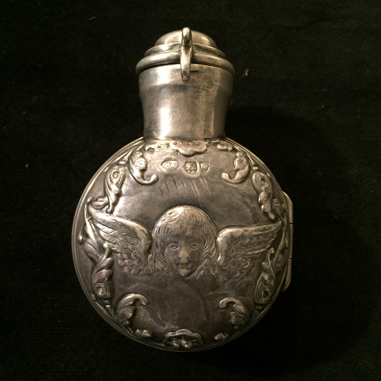 Antique Silver Perfume Case (19th c. U.K.)