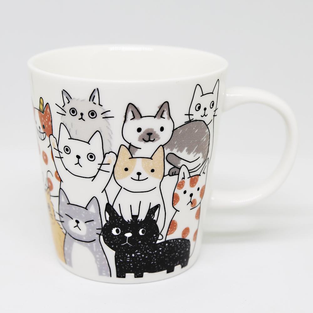 猫マグカップ(のあぷらすなごみ)ねこ全身