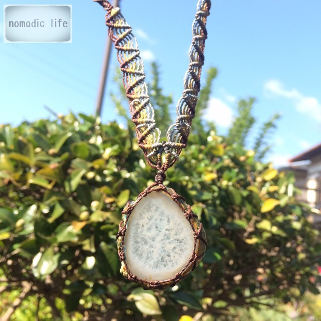 No.27//necklace from India/マクラメネックレス