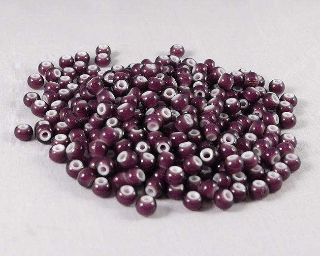 ホワイトハーツビーズ 紫色 丸5mm H2758WH15301