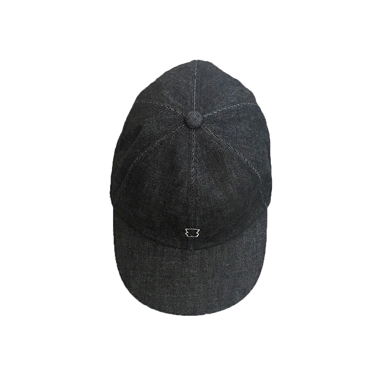 EMBROIDERY BEAR DENIM CAP / 1 2