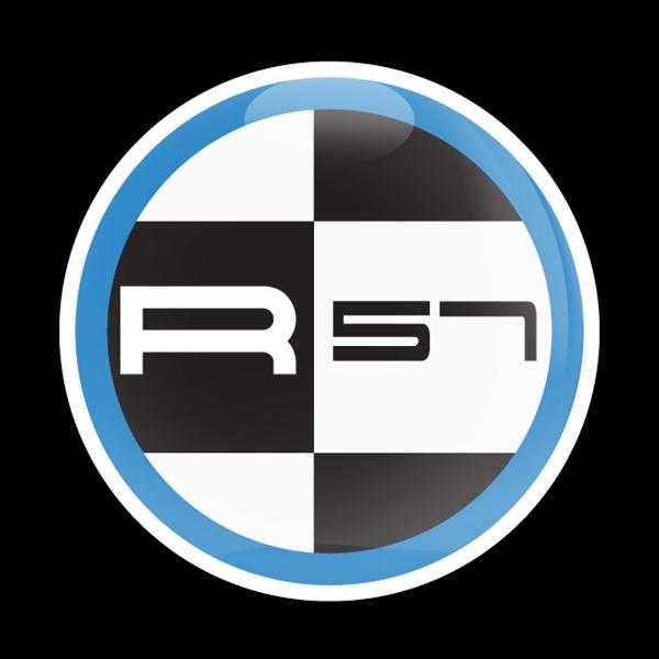 ゴーバッジ(ドーム)(CD0575 - MINI R57 BLUE) - 画像1
