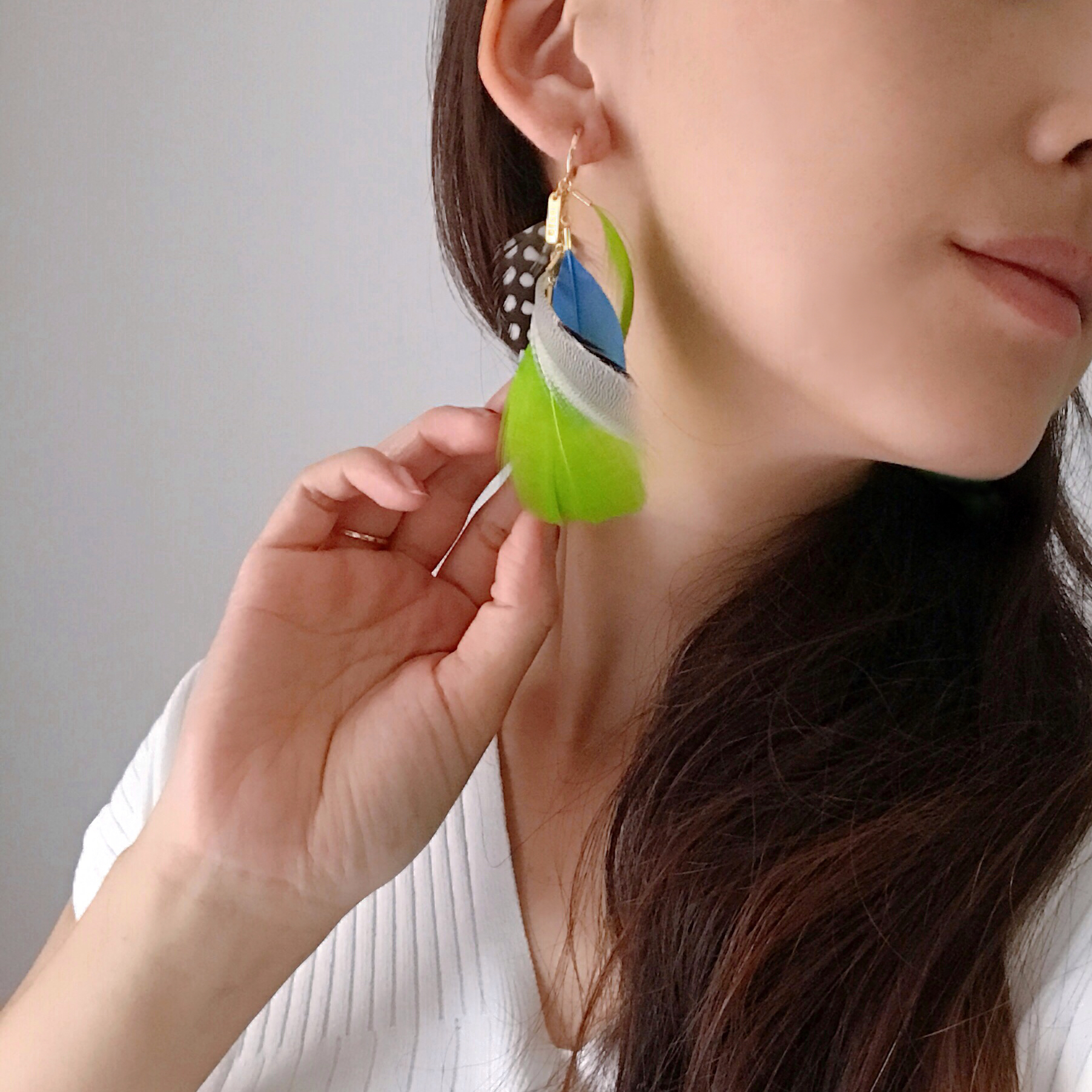 FEATHER 片耳用 / light green