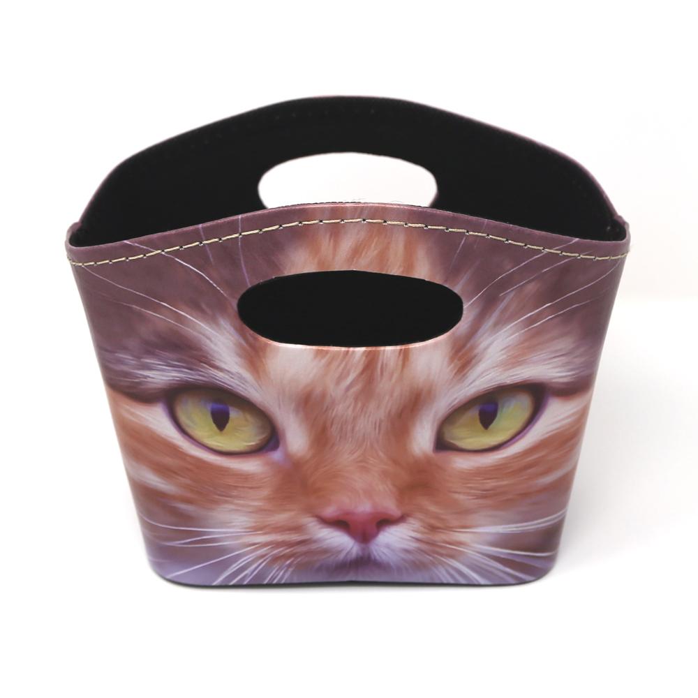 猫バスケット(猫アップ)Mサイズ