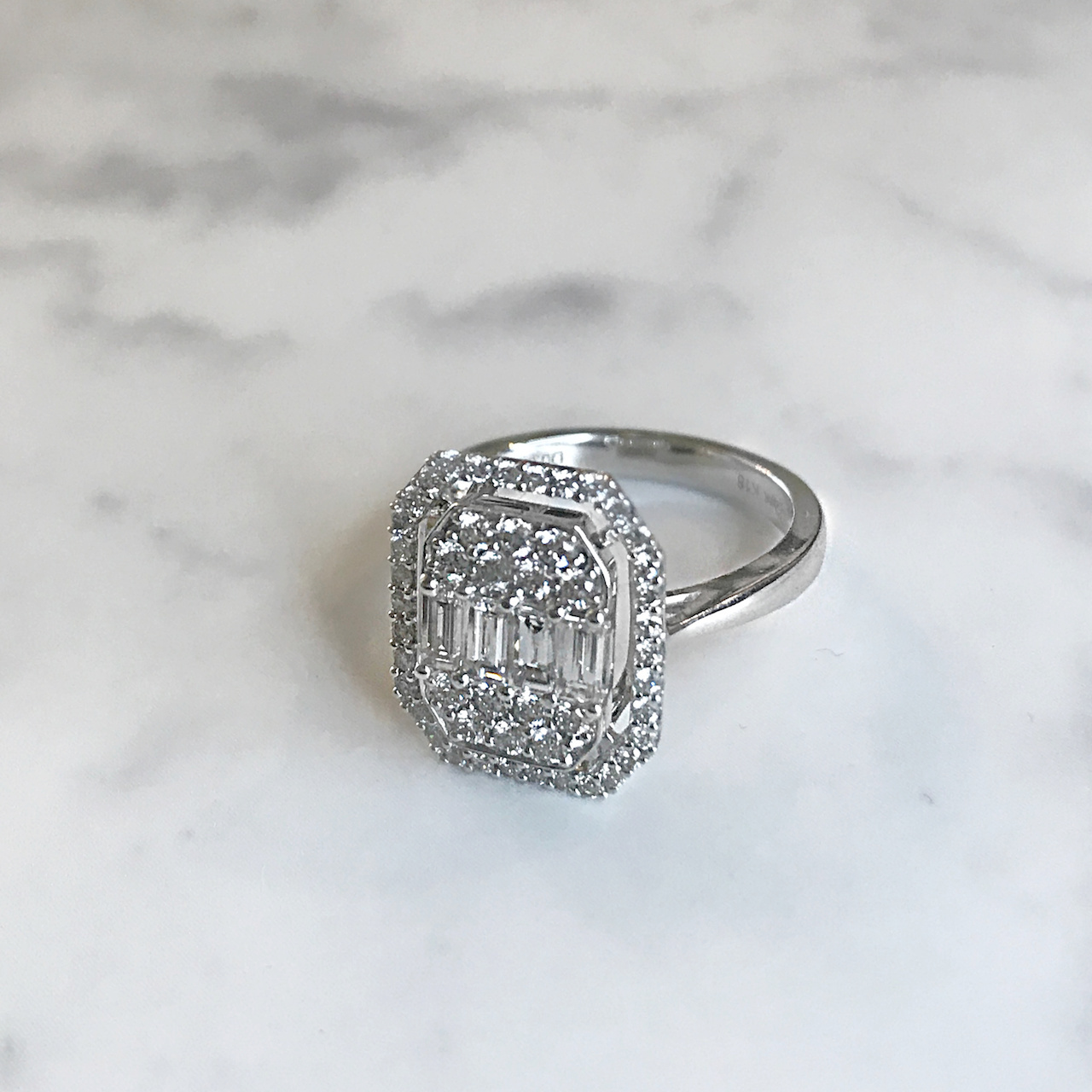 jg  リング K18/ダイヤモンド