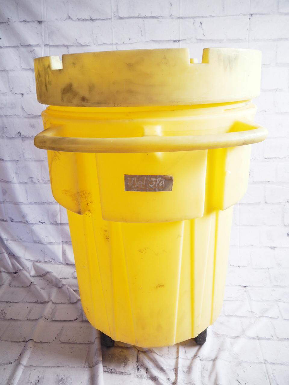 品番0112 ENPAC 1299-YE-A サルベージドラム プラスチック製 イエロー アメリカン ヴィンテージ 雑貨