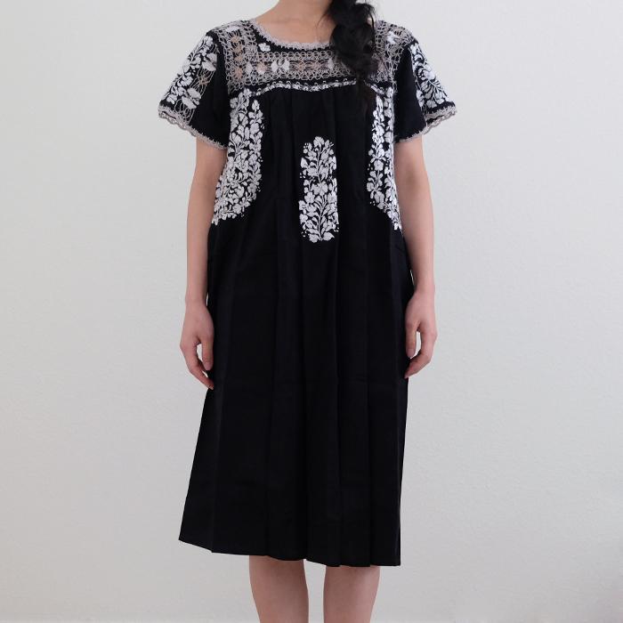 デスイラードの大人の刺繍ワンピース / Black /256/ MEXICO / &JOURNEY original