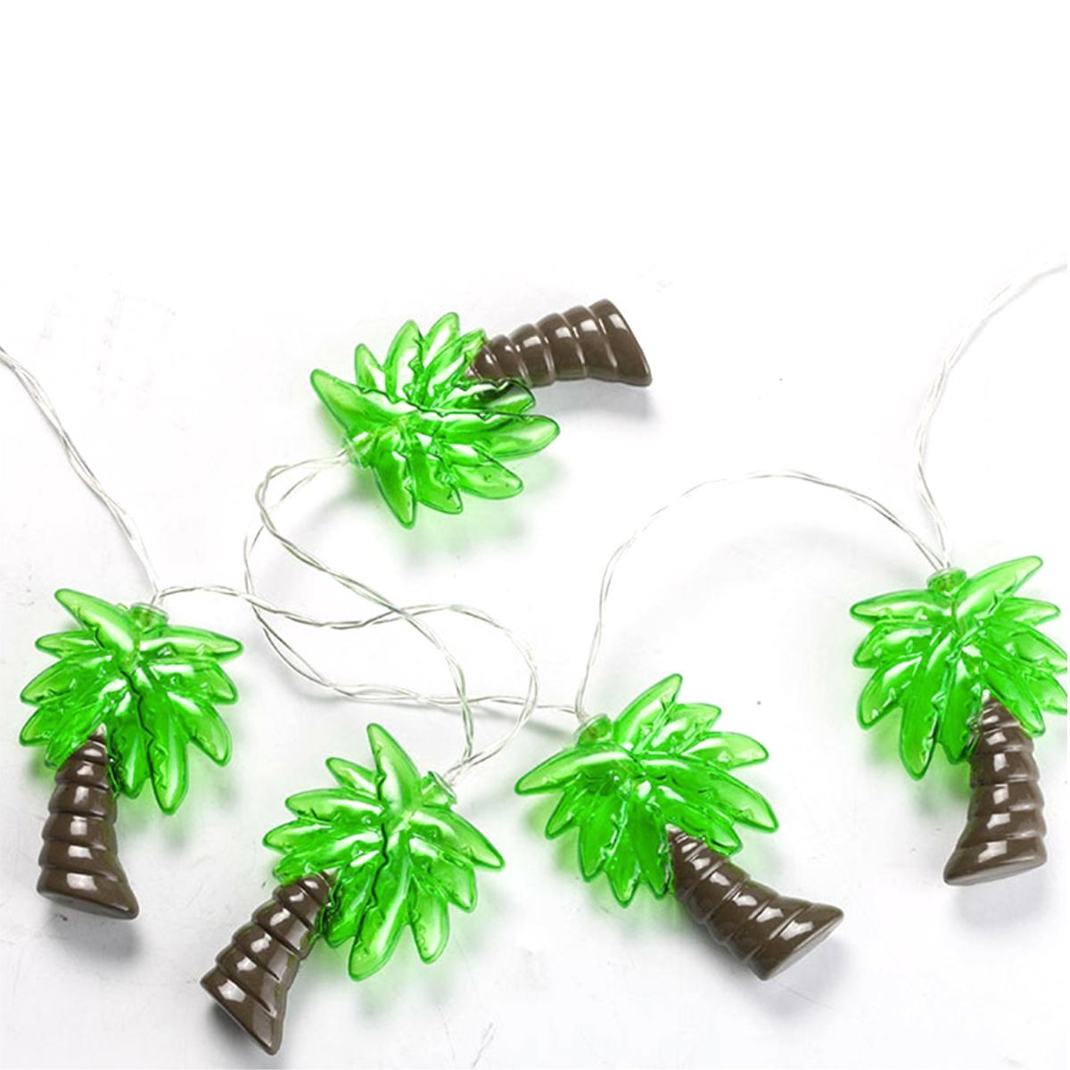 10 Palm Tree LED ストリングライト 173cm