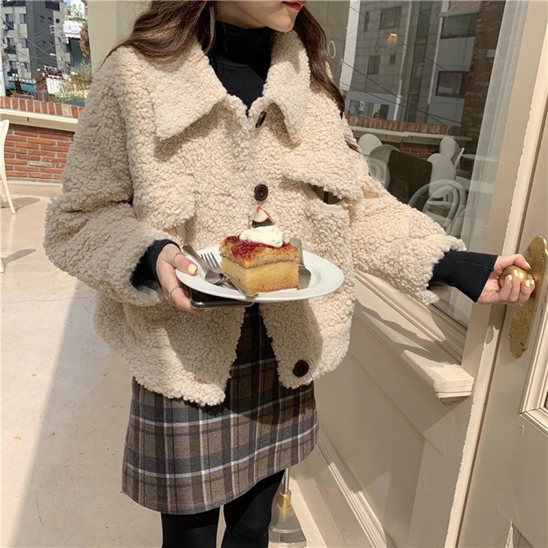 【送料無料】大人可愛い ♡ カジュアル  襟付き ボア ショート丈 ジャケット ブルゾン アウター