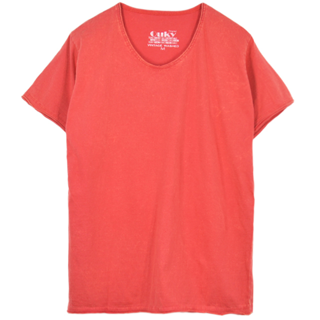 Ouky T-shirt 朱色♛34