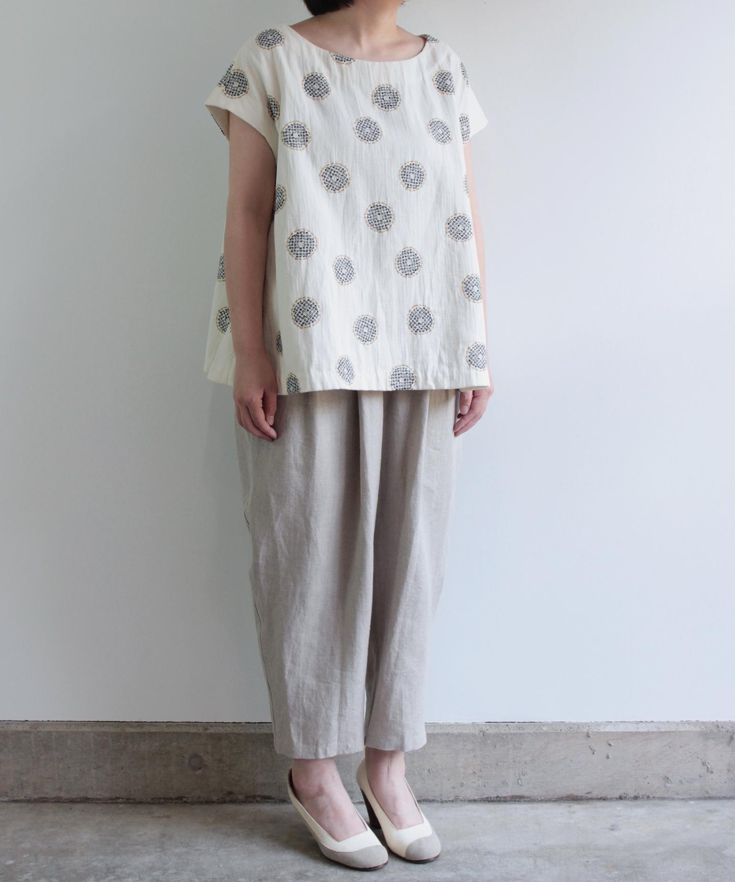 No.7 綿毛刺繍プルオーバー(ev1604985 WHT F)