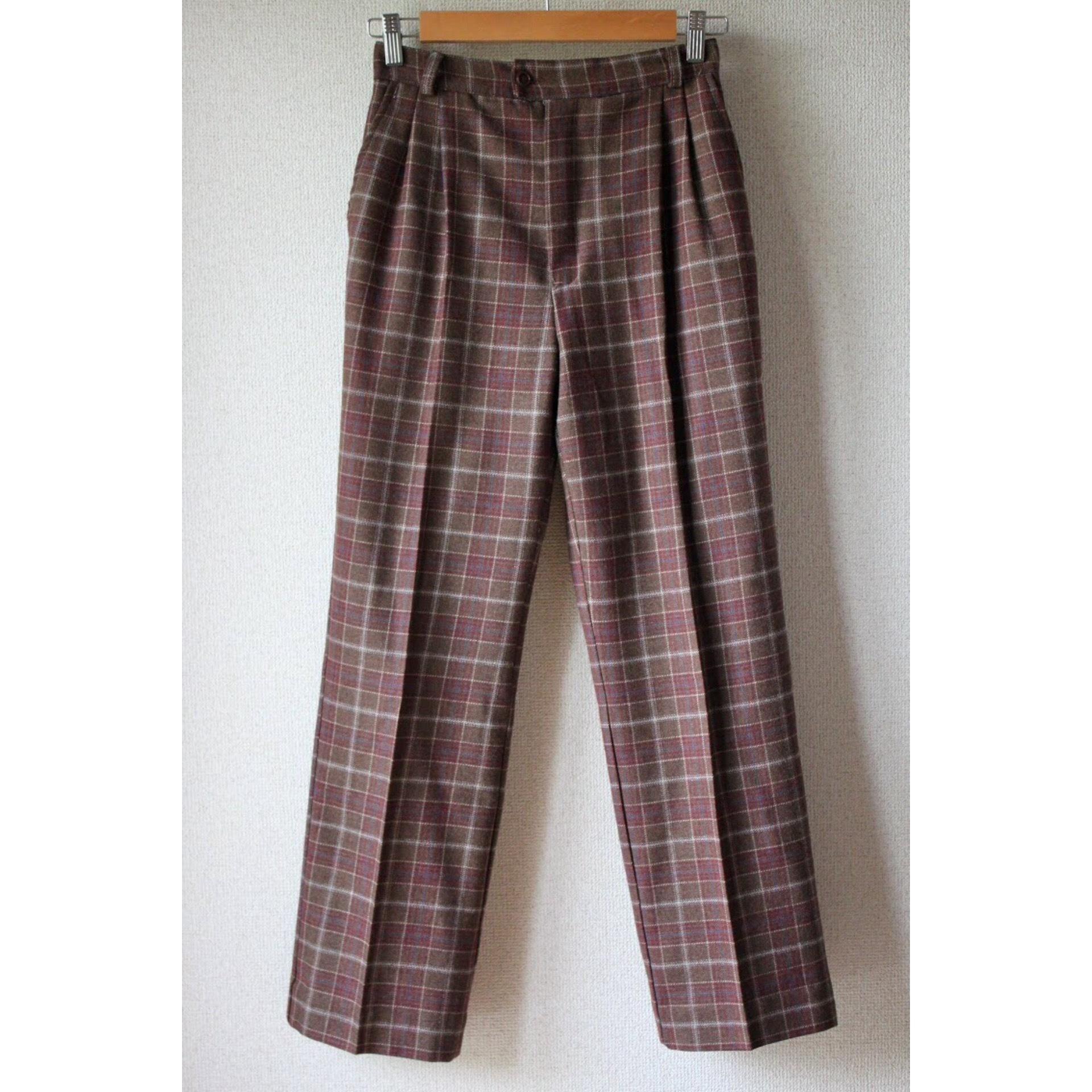 Vintage check wool slacks