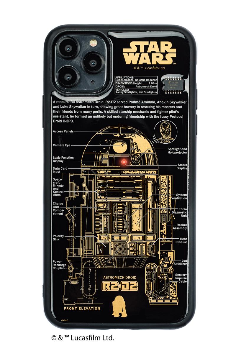 FLASH R2-D2 基板アート iPhone 11 ProMax ケース  黒【東京回路線図A5クリアファイルをプレゼント】
