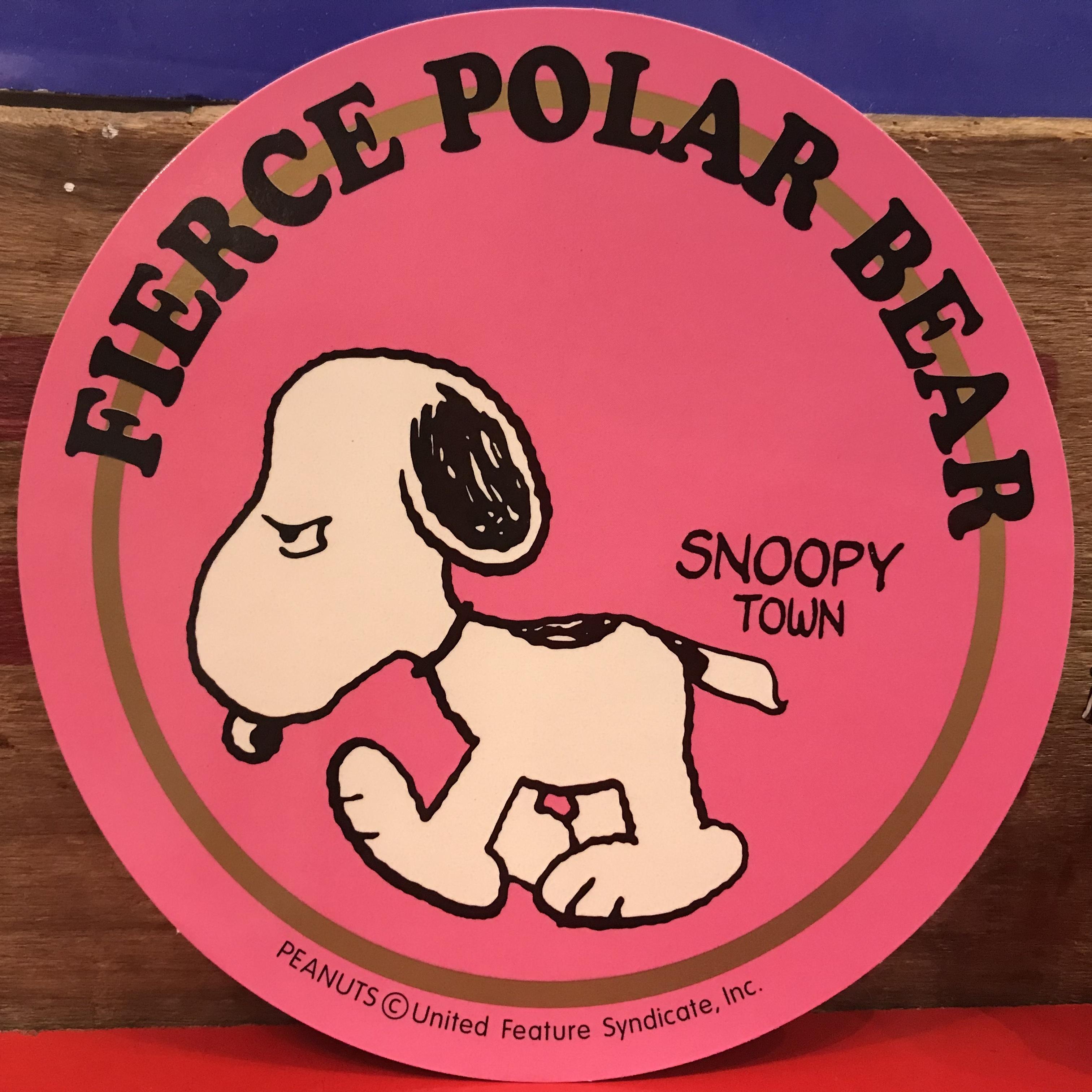 スヌーピー PEANUTS 凶暴な北極ぐま 特大ステッカー 限定品 2000年製。