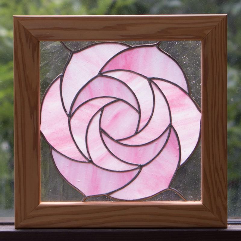 ローズ(ステングラスのアートパネル) 03050114