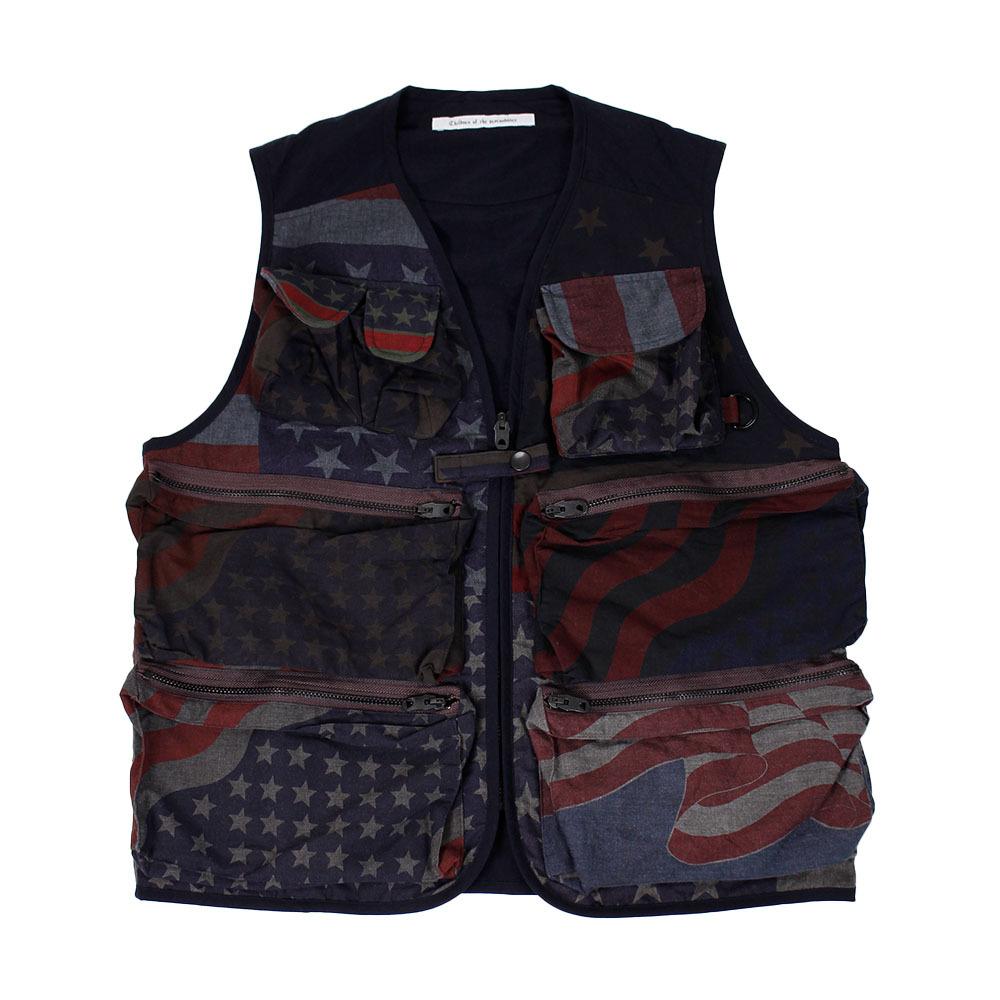 CHILDREN OF THE DISCORDANCE Vintage Vest Navy SIZE;1