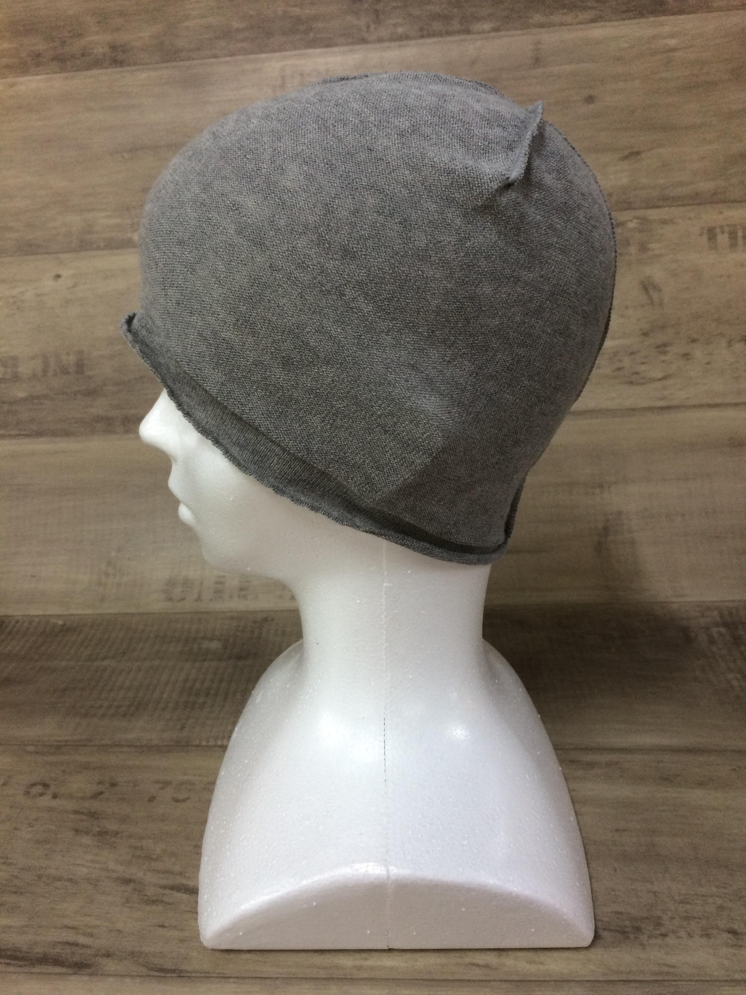 【送料無料】こころが軽くなるニット帽子amuamu|新潟の老舗ニットメーカーが考案した抗がん治療中の脱毛ストレスを軽減する機能性と豊富なデザイン NB-6057|黒ゴマ <オーガニックコットン インナー>