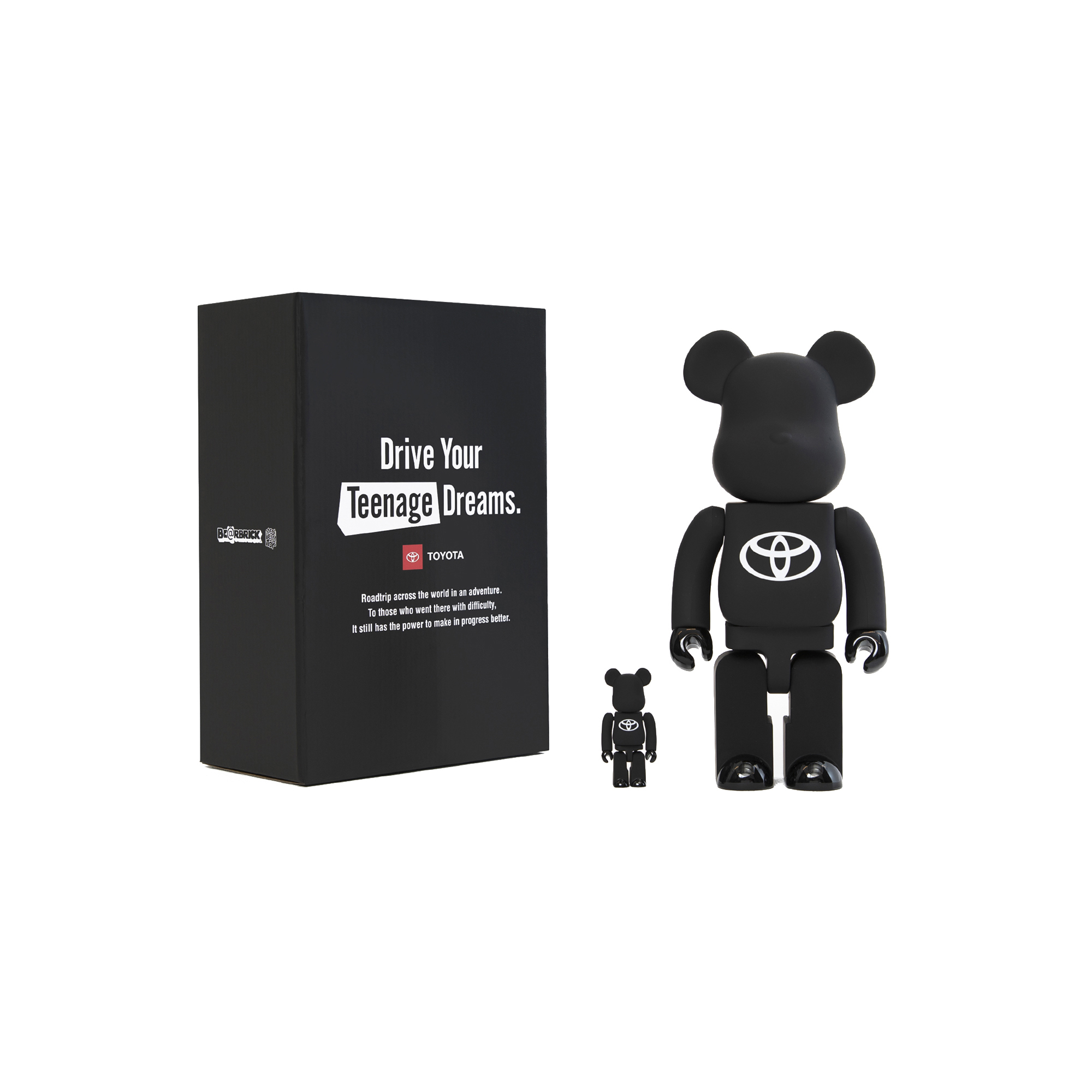 """BE@RBRICK TOYOTA """"Drive Your Teenage Dreams."""" 100% & 400%"""