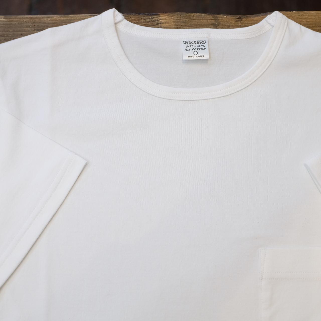 Workers(ワーカーズ) 別注 3PLYスリム ポケットTシャツ ホワイト